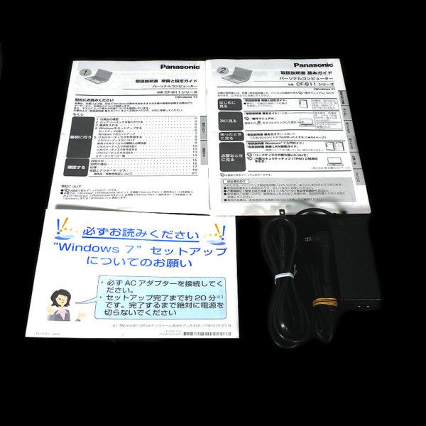 Panasonic レッツノート CF-B11 CF-B11JWCYS 付属品