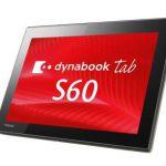 未使用品タブレット 東芝 dynabook Tab S60 PS60SSGK2L7AD21