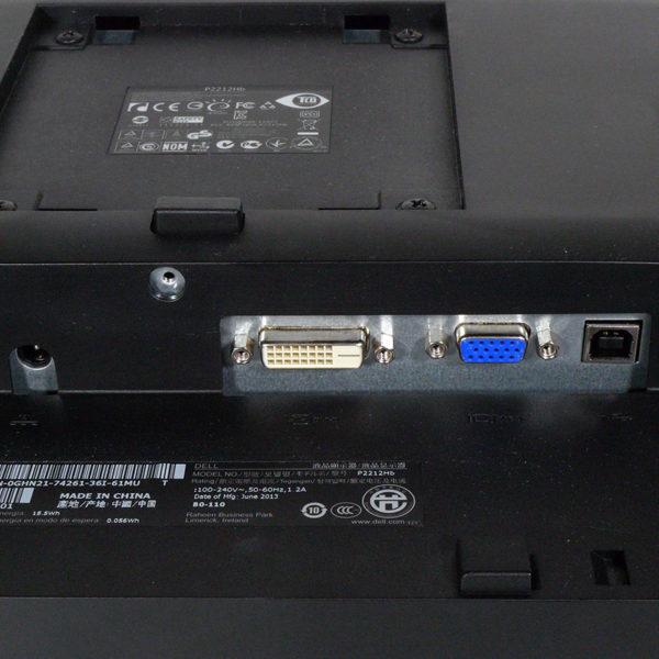 DELL 21.5インチワイド Full HD液晶モニター P2212H 入力端子