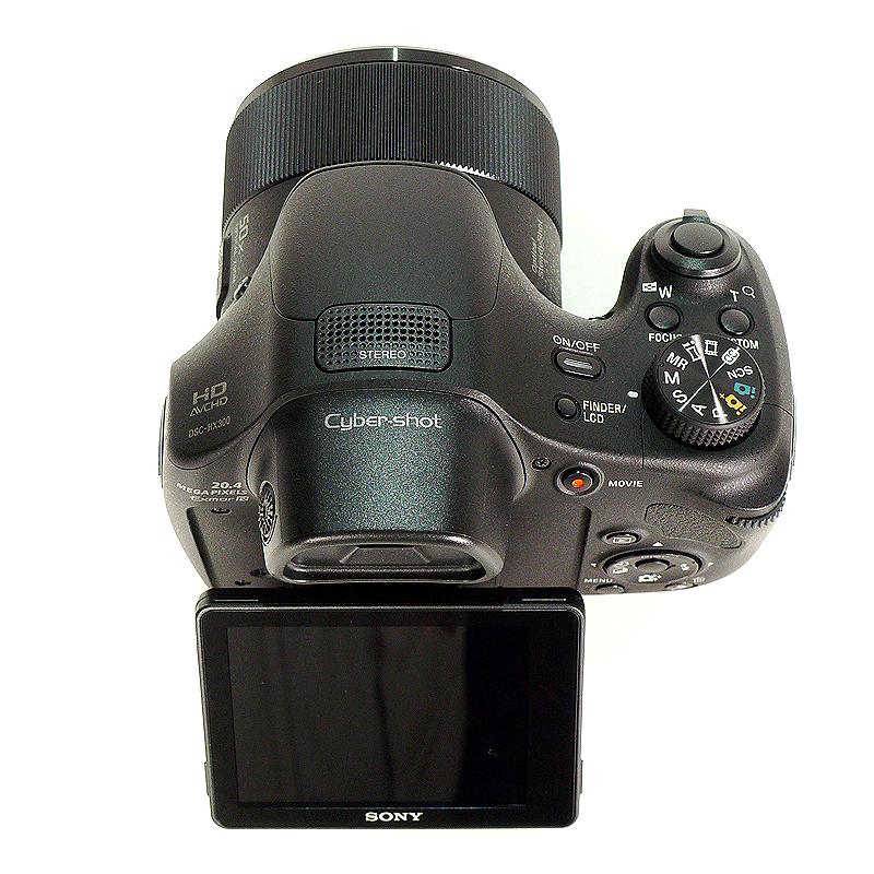 極上中古デジカメ SONY デジタルカメラ Cyber-shot HX300 2110万画素 光学50倍 DSC-HX300-B 上部