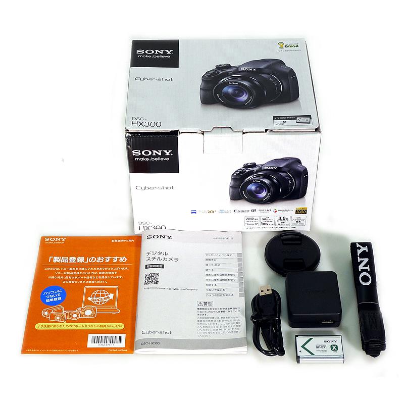 極上中古デジカメ SONY デジタルカメラ Cyber-shot HX300 2110万画素 光学50倍 DSC-HX300-B 付属品