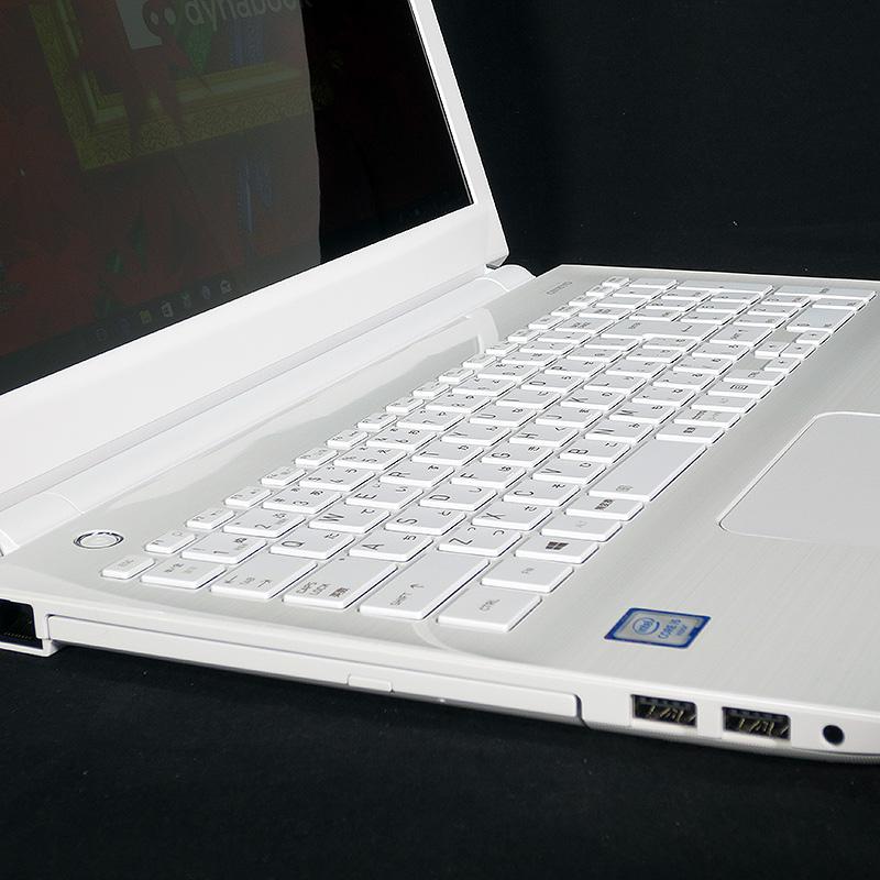 極上中古ノートパソコン 東芝 dynabook EX/65AW PTEX-65ABJW リュクスホワイト サイド