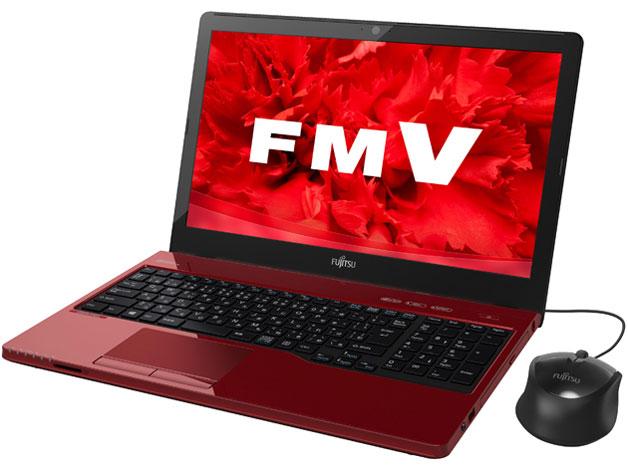 未使用ノートパソコン FMV LIFEBOOK AH45/U FMVA45URP ルビーレッド